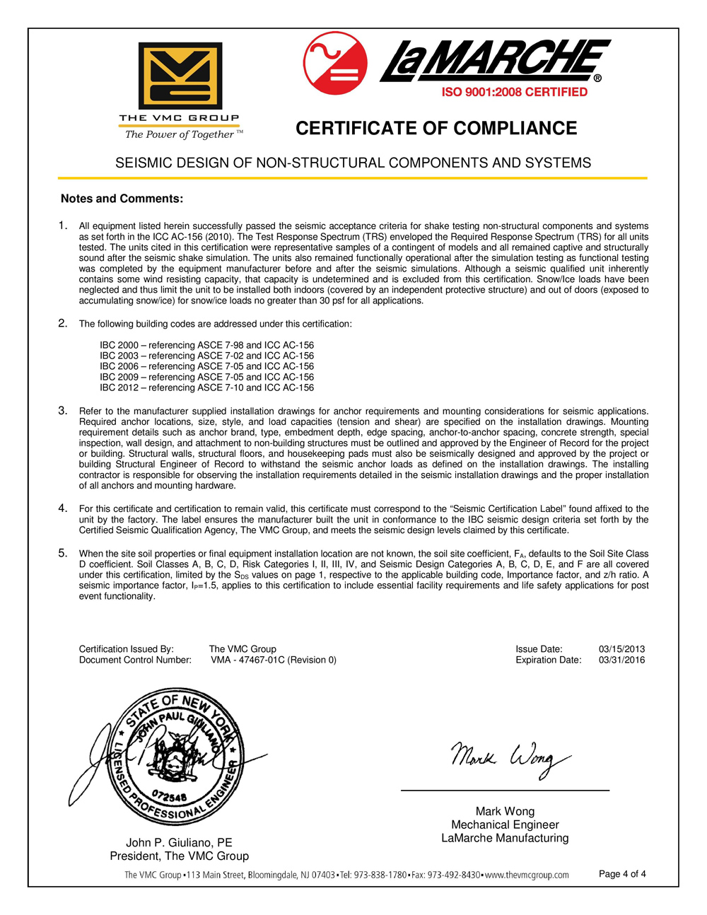 Ibc And Oshpd Certificate